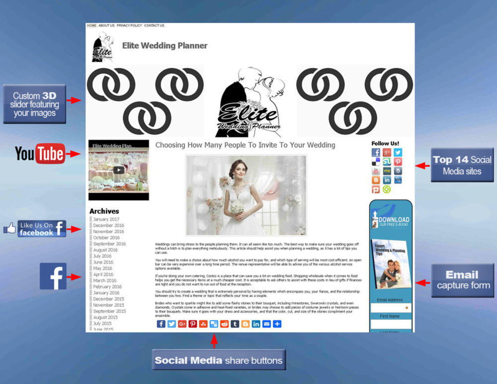 wordpress-blog-with-labels-wedding-planner